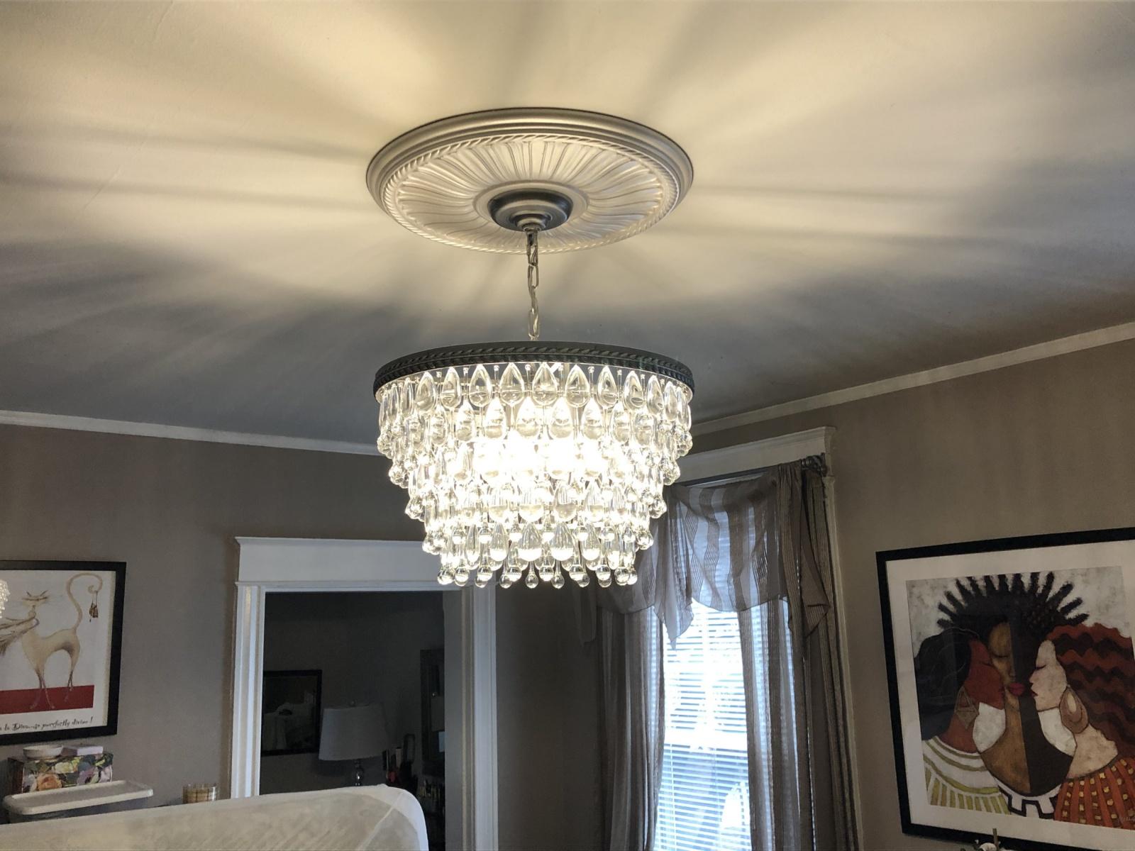 Crystal-chandelier-install