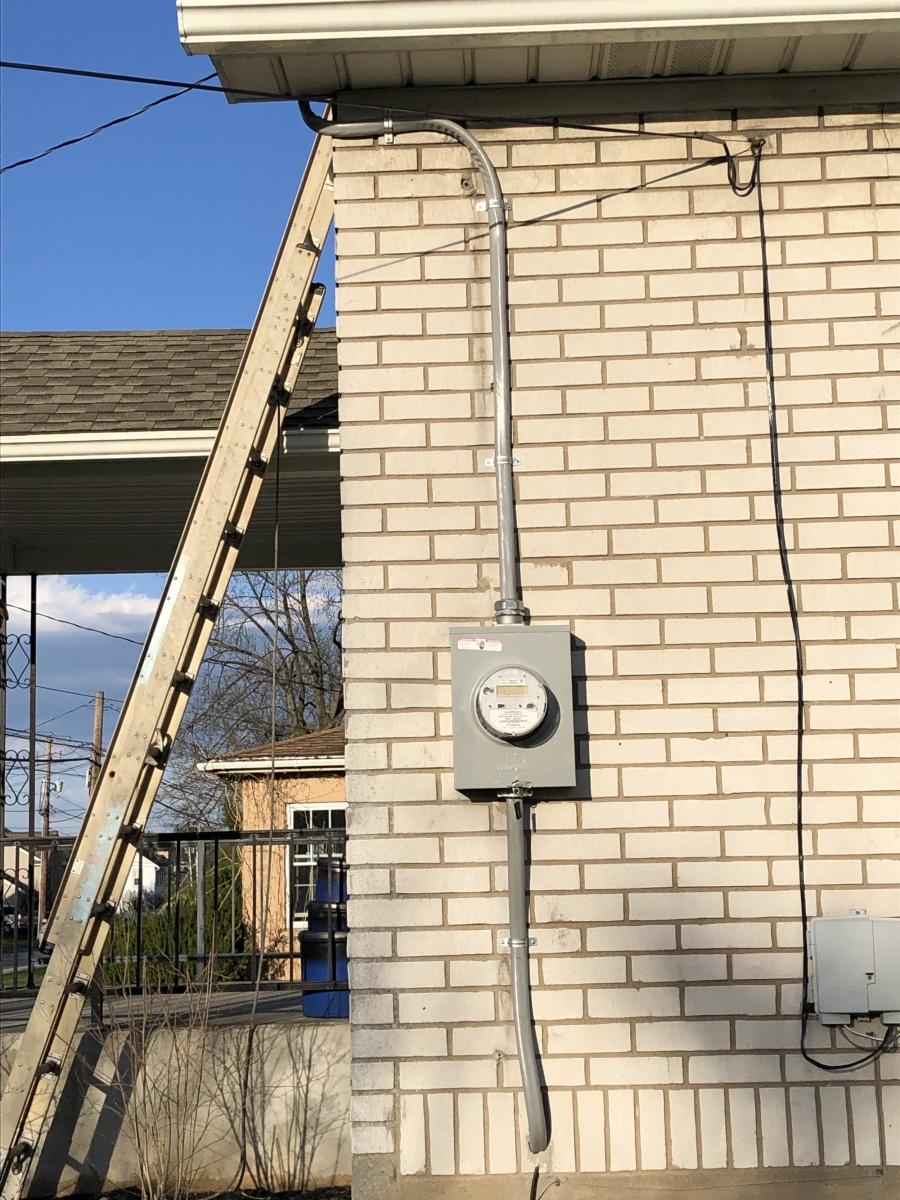New-meter-pan-install